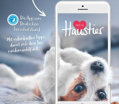 """Pressemitteilung – Deutscher Tierschutzbund launched App """"Mein Haustier"""""""