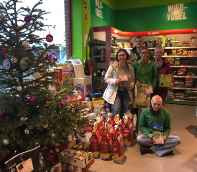 Die Wunschbaum-Bescherung für unsere Tiere…überwältigend!