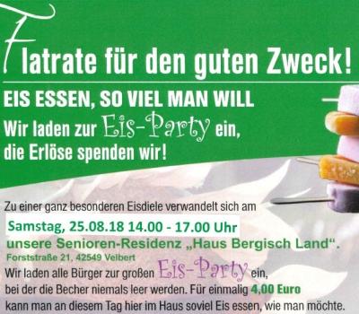 """Eis-Party in der Senioren-Residenz """"Haus Bergisch Land"""""""